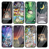 My Neighbor Totoro Tempered Glass Case for Apple iPhone Xr X XS Max 8 7 6 6s