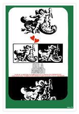 Graphic Design movie Poster.HOLA AMIGO.German.Room design art film.Love story.