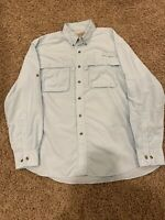 LL Bean Mens Fishing Long Sleeve Button Down Shirt Size Large Vented Outdoors