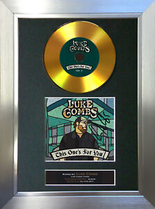 GOLD DISC LUKE COMBS This One's For You Signed Autograph Mounted Print A4 191