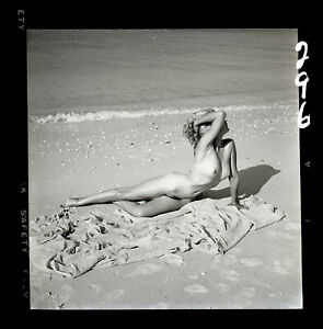 BETTY SYKES 1950s Nude Beach Model Bunny Yeager Archive 2 1/4 Camera Negative
