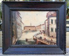 Dipinto olio su cartone anonimo - Livorno(?) - primi '900