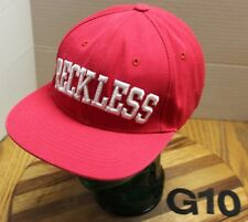 YOUNG AND RECKLESS HAT RED EMBROIDERED SNAPBACK ADJUSTABLE VERY GOOD COND G10