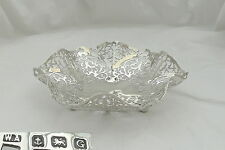 RARE GEORGE V HM STERLING SILVER PIERCED FRUIT BOWL 1931