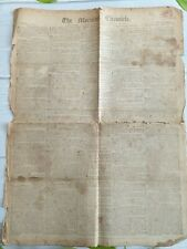 More details for antique original newspaper georgian 1817 the morning chronicle slavery charlotte