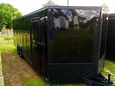 New listing New 8.5X24 V-Nose Enclosed Cargo Blacked Out Trailer Car Toy Hauler 8.5X24