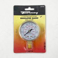 Forney 87727 2 High Pressure Oxygen Regulator Gauge 0 4000 Psi 14 Npt