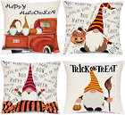 Halloween Decorations Pillow Covers18x18 Trick or Treat Gnomes Decorative Throw
