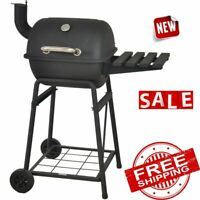 GRILL BBQ CHARCOAL PORTABLE Outdoor Backyard Camping Barbecue Pit Cooker Smoker