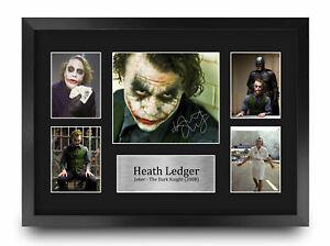 Heath Ledger Cool Gift Idea Signed Autograph A3 Picture Print to Movie Fans