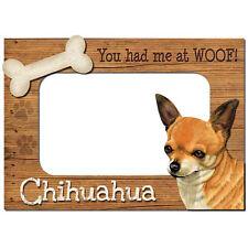 Chihuahua 3-D Wood Photo Frame