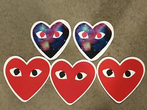 Hearts sticker pack x 5, love heart