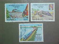 Guatemala Scott #C765-7 used Railroads/Trains/Bridges