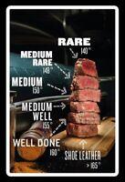 Enfants de Boeuf Steak Panneau Métallique Plaque Voûté Métal en Étain 20 X 30 CM