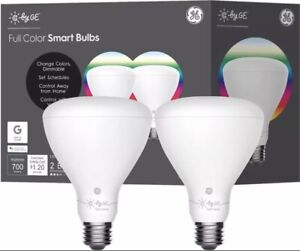 C By GE BR30 700 Lumen Bluetooth Full Color Changing Smart LED Light Bulb 2 Pack