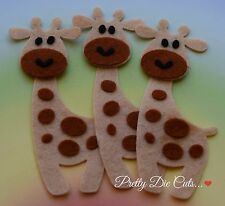 Felt Giraffes (3) Wild Safari Animal Shapes, Die Cut Craft Embellishments