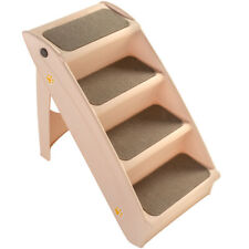 Pet Stairs ideal for Dogs, Cats and other household animals, Cream, 78 cm