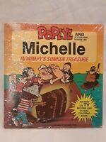 "Vintage Personalized ""Michelle"" & Popeye In Wimpy's Sunken Treasure Book& Record"