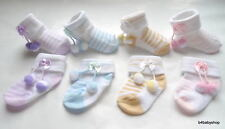 6 Pairs Baby Booties Socks for newborn to 6M -NEW!