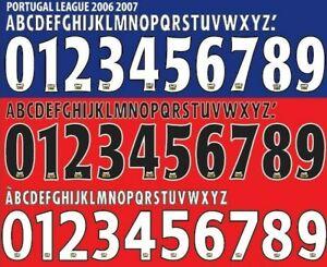 Liga Nos 07-08 Football Nameset for shirt Any Name 2 Numbers Benfica Porto