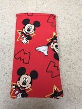 Sunglass / Eyeglass Soft Fabric Case - Micky Mouse on Red Background - NEW!