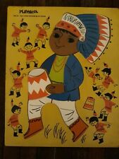 Playskool vintage puzzle Ten Little Indians 360-20, 19 piece