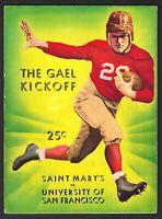 1935 U. OF SAN FRANCISCO VS. ST. MARY'S FOOTBALL GAME PROGRAM SUPER CONDITION