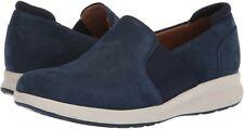 Clarks Ladies Wedge Shoes UN ADORN STEP Navy Nubuck UK 4.5/37.5 DRRP £69