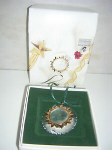Swarovski Crystal Christmas Memories Gold Ornament Sonne 203082 OVP Sammlerstück