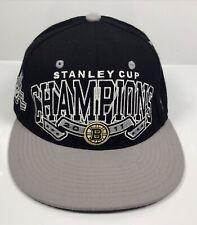 NHL Boston Bruins Hockey 2011 Stanley Cup Champions Blk Zephyr Snapback Hat Cap