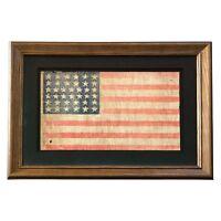 Vintage 38 Star Flag, Antique American Flag, Colorado Statehood, 1876-1889