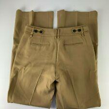 Ann Taylor LOFT Sz 4 KATE Pants Boot Cut Flare Tan Career Warm Thick