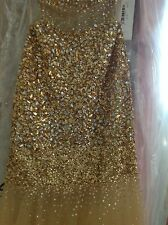 JOVANI 171100  GOLD Long Gown Dress Formal Pageant Prom Sz  8