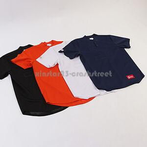 Supreme SS14 box logo Baseball Henley jersey Tee t-shirt