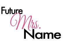 IRON ON TRANSFER PERSONALISED BRIDE WEDDING FUTURE MRS 18x10cm