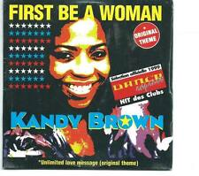 KANDY BROWN First Be A Woman 5 TRACK FRENCH REMIX CD single SEALED
