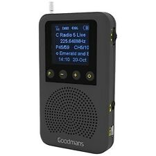 Goodmans Pocket Sized Digital DAB & FM Radio Built In Speaker Rechargeable NEW