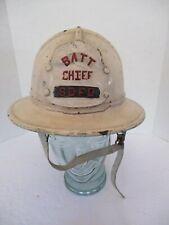 Composite Fireman Fire Helmet Batt Chief w/ Leather Shield, San Diego Fire Dept