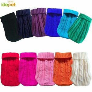Pet Dog Sweaters Winter Pet Clothes Small Dogs Warm Sweater Coat Soft Jackets