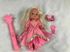 "Vintage Mattel Lil Miss Makeup Magic Jewels Doll 13"" w/ Wand, Jewels Crown"