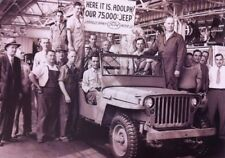 WW2 WWII Photo World War Two Ford US Army Jeep Production 75,000 Units!  / 3158