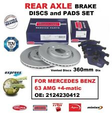 FOR MERCEDES BENZ OE: 2124230412 63 AMG +4-matic REAR BRAKE PADS + DISCS (360mm)