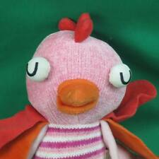 TWEETING BIRD SOUND PINK STRIPED COLORFUL BIRD NINO IDEAS PLUSH STUFFED ANIMAL