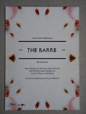 The Barre Bar & Eatery Arts Centre Melbourne Ephemera Postcard