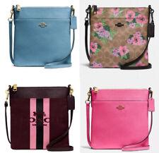 🌸NWT Coach Kitt Messenger Crossbody Zip Handbag Bag Horse carrier floral solid