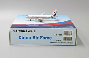 JC Wings 1:400 PLAAF - China Air Force Airbus A319-100 VIP B-4091 Diecast Model