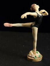 "Ballerina Figurine 1995 Roman Resin 4"""