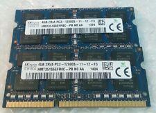 8GB 2x4GB HYNIX HMT351S6EFR8C-PB N0 AA PC3-12800S DDR3-1600 laptop RAM memory