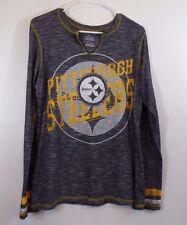 PITTSBURGH STEELERS Shirt Majestic NFL Football Long Sleeve Women's Size XL