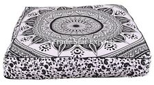 Large Mandala Square Floor Pillow Cases Ethnic Ombre Tapestry Box Cushion Cover